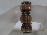 glbr007 18*24mm oblong lampwork & crystal beads bracelet