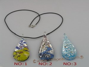 gpd006 10 pieces 60mm tear-drop chinese lampwork glass pendant