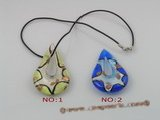 gpd034 10 pieces 60mm tear-drop chinese lampwork glass pendant