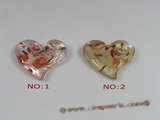 gpd041 10pieces 45*50mm heart-shape lampwork pendant wholesale
