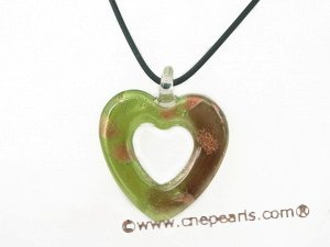 gpd060 40*44mm heart-shape lampwork pendant necklace in wholesale