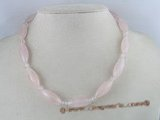 gsn009 Handcrafted rose quartz beads gem stone necklace