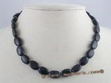 gsn028 13*14mm oval blue aventurine gemstone beads necklace