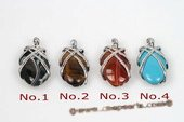 gsp125 Fashion 20*35mm Gemstone Oval drop Pendant Necklace