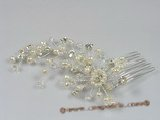 hj002 chandelier pearl bridal comb jewelry