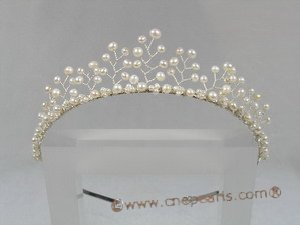 hj012 Gorgeous pearl Princess Tiara