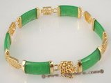 jbr005 Stunning gold plate bangle braclet with jasper beads in wholesale