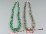 jn014 wholesale gradual change round jasper beads necklace