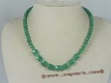jn015 6mm green round jasper beads necklace wholesale