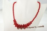 jn018 red square jasper beads necklace wholesale