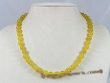jn020 Handmade 8mm jasper yellow jade single necklace