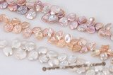 keishi036 Good quality 11-16mm side-drilled reborn pearl strand
