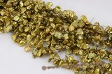 keishi041 wholesale 8-10mm side drilled keshi pearl in olive green color
