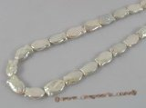 keshi020 15inch White pisciform cultured pearls strand onsale