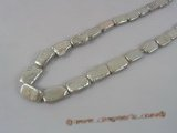 keshi022 10*15mm grey oblong cultured pearls strand in wholesale