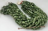 keishi048 Green centre drilled freshwater reborn keshi pearl strand,6-8mm