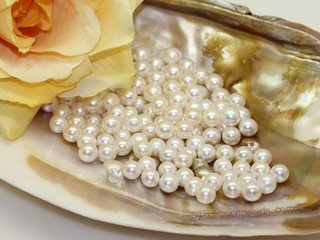 lpb001 50PCS 6-7mm AAA withe round fresh wate loose pearl wholesale