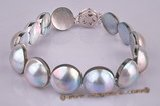 mbpbr001 Wholesale 13-14mm nature Grey mabe pearl bracelet jewelry