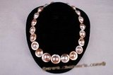 mbpn005 Wholesale bronze-coloured mabe pearl necklace with 925silver push in clasp