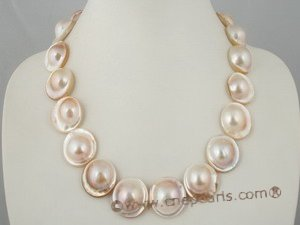 mbpn008 Bronze-coloured mabe pearl necklace with magnetic clasp in wholesale