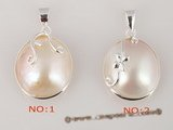 mbpp004 wholesale sterling 15-16mm white mabe pearl pendant necklace