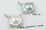 mbpp017 Couture designer 925silver 20-21mm Mabe pearl pendant necklace