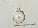 mbpp021 Lovely designer sterling silver pendant with white mabe pearl