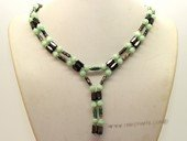 mn004 Hematite and 5mm green cat eyes necklace/bracelet jewelry