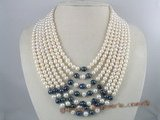 mpn067 Seven rows bridal & wedding multi-strands pearl necklace