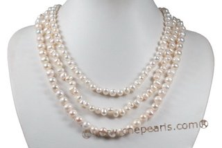 mpn336 Trendy Gradual Cultured Pearl Layer Mother&#39s Necklace