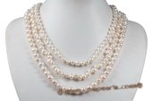 mpn336 Trendy Gradual Cultured Pearl Layer Mother's Necklace