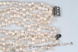 mpn337 Elegant Hand knotted Cultured Pearl Layer Necklace