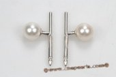 mtj018 Sterling Silver 8-9mm Round Pearl Cuff Link in Wholesale