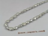 ngs016 5strands 8-9mm grey nugget Freshwater pearls