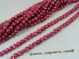 ngs024 wine red Baroque nugget pearls bead strands in 10-11mm