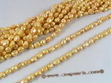ngs026 10-11mm champagne Baroque nugget pearls bead strand on sale