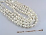 ngs028  9-10mm Baroque nugget pearls bead strands in white color
