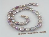 nls03 5strands 8*10mm long_dirlled nugget pearls nature purple