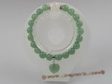 pb005 stuning 8mm Green Aventurine elastic Power bracelets
