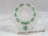 pb034 8*12mm oval chinese jade& crystal Elastic Power bracelet