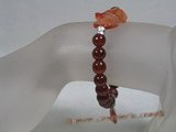 pb044 wholesale 8mm round Red Agate Elastic Power bracelet