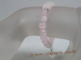 pb056 8mm round rose quartz Elastic Power bracelet wholesale
