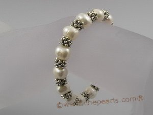pbr016 extraordinary 8-9mm white cultured potato pearls stretchy bracelets