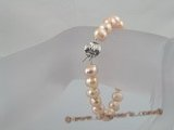 pbr048 8-9mm pink potato shape fresh water pearl bracelets