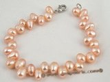 pbr164 Wholesale 6-7mm pink side-drilled cultured pearl bracelet in factory price