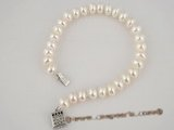 pbr174 Elegant White button pearl bracelet in wholesale