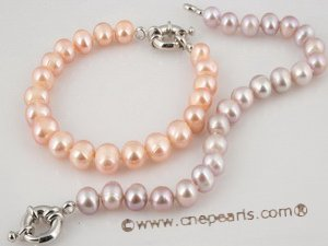 pbr179 8-9mm freshwater potato pearl bracelet wholesale
