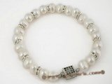 pbr195 Fashion 7-8mm fresh water potato pearl bracelet in white color