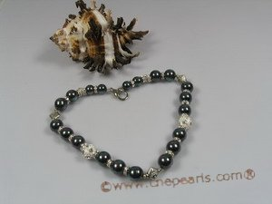 petc007  Elegant south sea pearl and crystal  fitting pet necklace