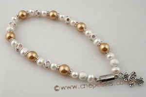 petc010  Elegant south sea pearl and cultured pearl pet necklace